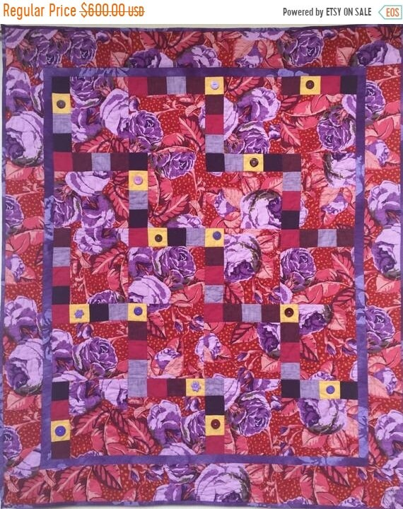 MLK Dream Sale Feeling Fat? Give Yourself Big Purple Flowers art quilt