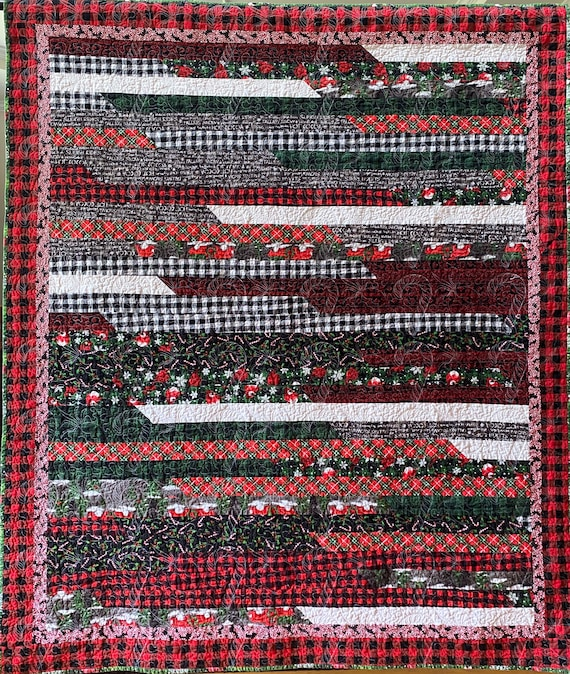 Christmas At Walmart 50 x 63 inch lap quilt