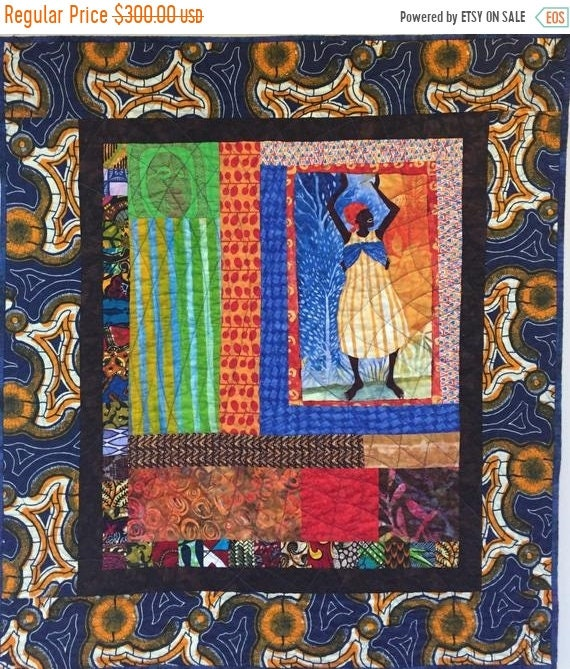 Black History Sale Grateful For Another Happy Day #3 quilted wallhanging