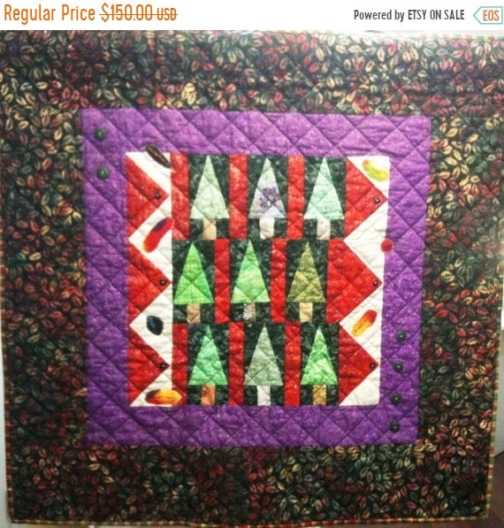 MLK Day Sale Enchanted Forest Art Quilt