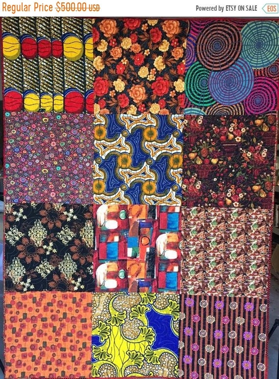 On Sale Bazaarly Big and Beautiful #1 lap quilt or wallhanging