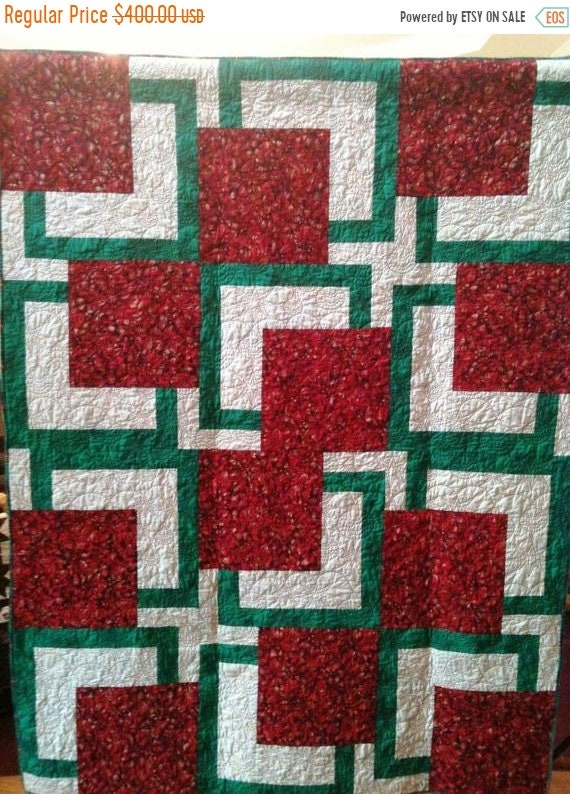 Holiday Sale Almost Christmas 54 x 72 inch art quilt