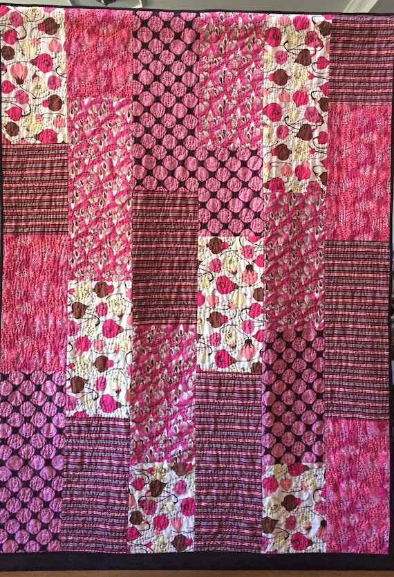 Getting Stronger and Stronger, 52x70 inch breast cancer art quilt