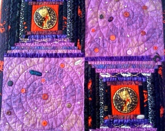 Wicked Woman, 36 x 36 inch wallhanging quilt, 2009.