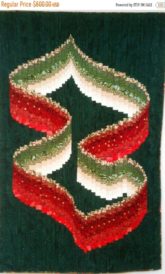 MLK Dream Sale Christmas Ribbons art quilt wallhanging