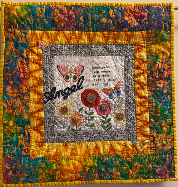 Whispers From My Angels #2 art quilt