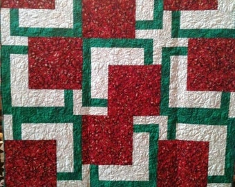 Fall sale Almost Christmas 54 x 72 inch art quilt