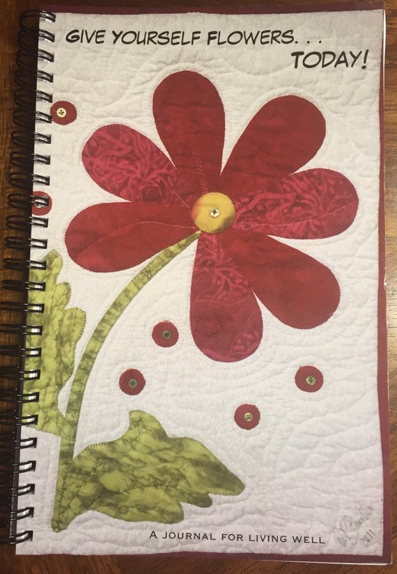 Give Yourself Flowers Today journal or sketchbook