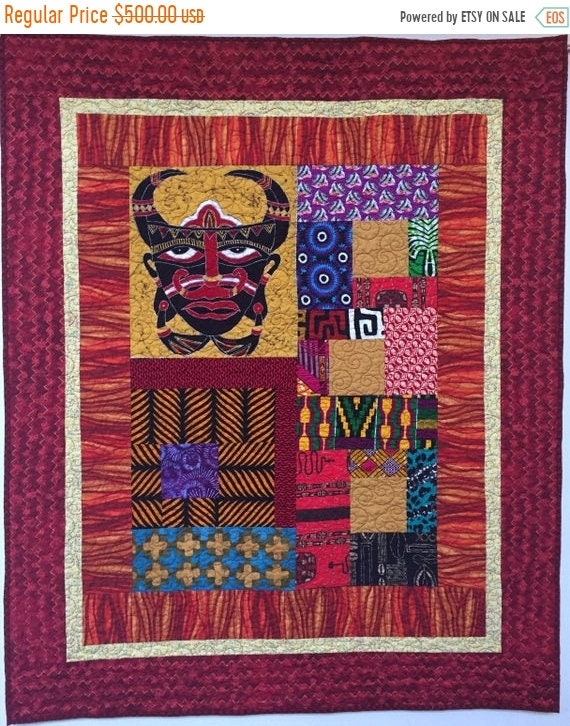 FALL SALE I Am Mad as Hell, 42x52 inch art quilt