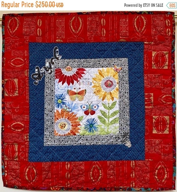 Fall sale Whispers From My Angels #4 hand quilted art quilt