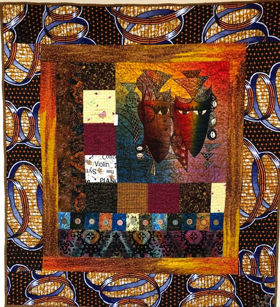 A Night on Broadway 37x40 inch embellished art quilt