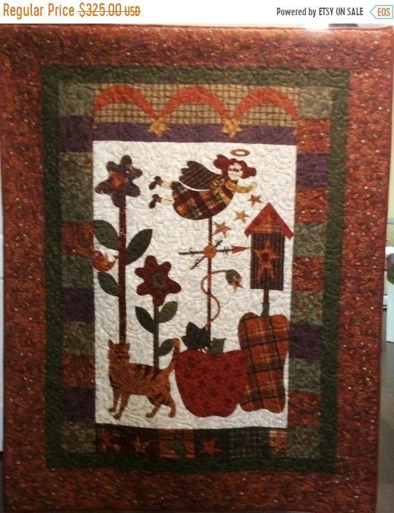 Fall sale I Believe in Country Angels Art Quilt