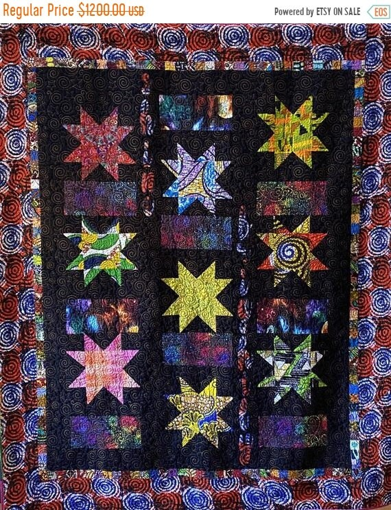 Juneteenth sale Be the Brightest Star art quilt