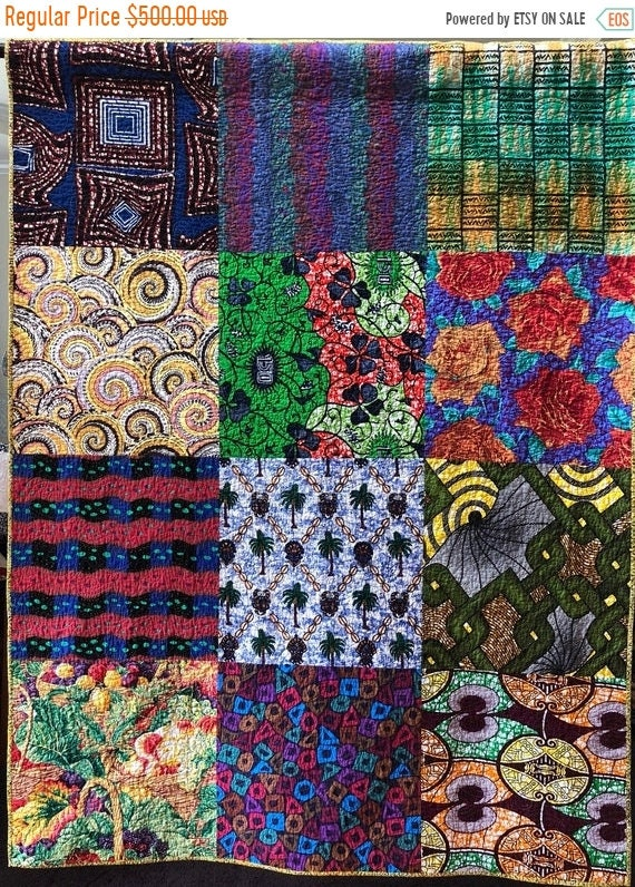 FALL SALE Bazaarly Big and Beautiful #5 50x66 inch lap quilt