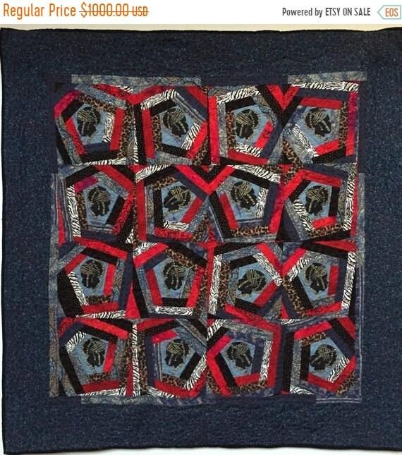 ON SALE Queen of Nobody 48x48 inch art quilt