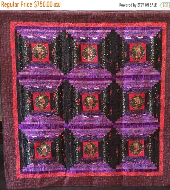 Black History Sale Queen of Everything 64x64 inch art quilt