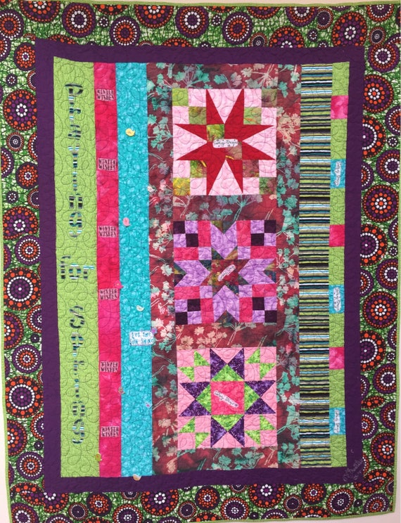 Praying For Spring 43x56 inch art quilt