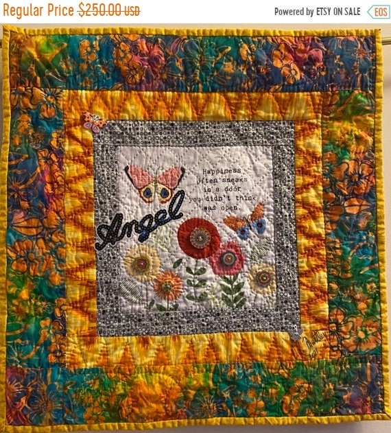 AQF sale Whispers From My Angels #2 art quilt