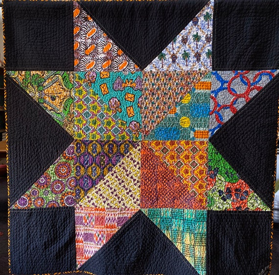 Dream Upon Your Authentic Star, 66x66 inch handquilted art quilt