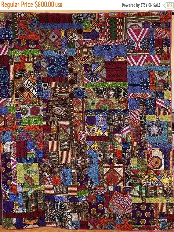 HOLIDAY SALE Be Joyfully Authentic, African Art Quilt