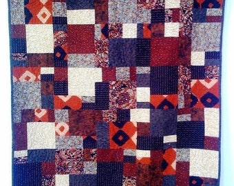Hello Summer Sale Hot Chocolate, 38 x 45 inch wallhanging quilt, 2008