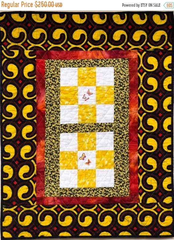 Holiday Sale Sun Outside My Window 27x35 inch art quilt
