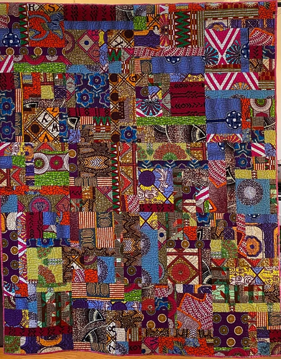 Be Joyfully Authentic, African Art Quilt