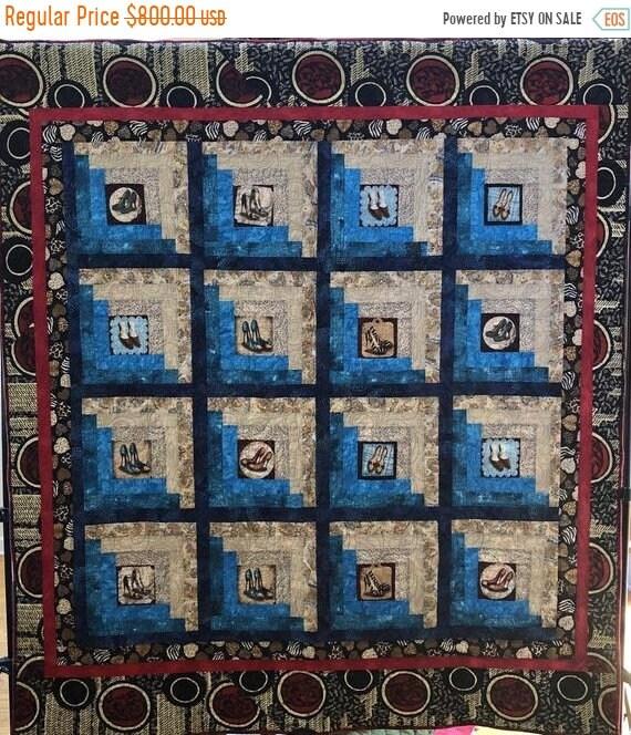 Juneteenth sale Sexy Shoe Fetish 58x65 inch art quilt