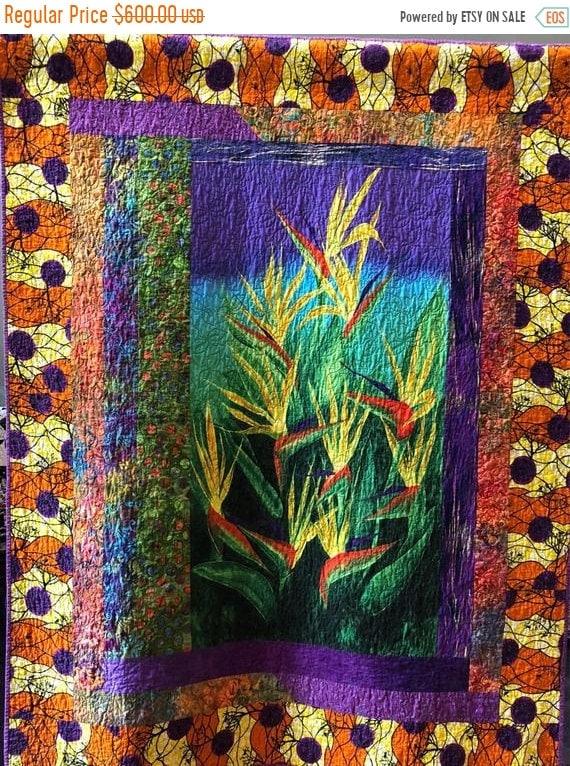 ON SALE Seek the Sun 48x61 inch art quilt
