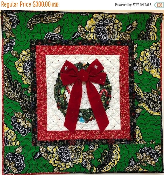 Fall sale Ancestral Wreath 33x33 inch Quilted Holiday Wreath