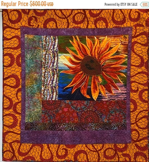 Black History Sale A Hint of Fall, 44x47 inch quilted wallhanging