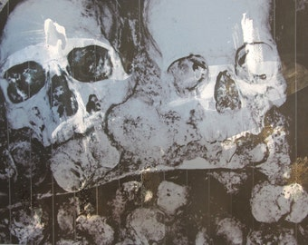 Paris Catacombs - Skull and Crossbones print