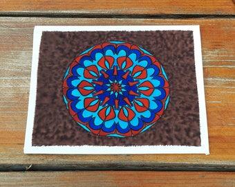 Silk Painting Mandala
