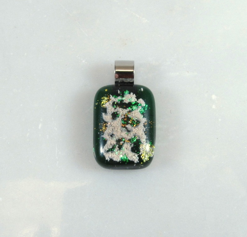 - Free Shipping EMERALD Memorial CREMATION GLASS Pendant Pet Ashes Only Fused Opal Glass Jewelry Piece