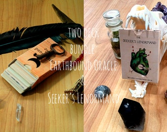 The Earthbound Oracle and The Seeker's Lenormand BUNDLE
