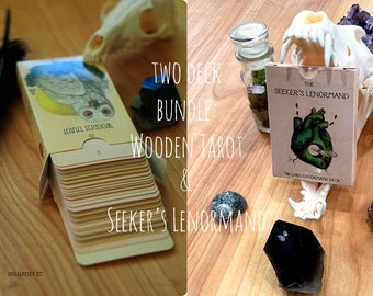 The Wooden Tarot and The Seeker's Lenormand BUNDLE