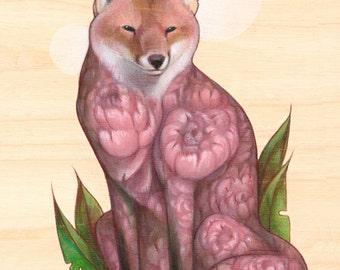 Peony Fox PRINT