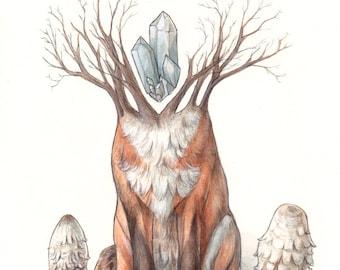 Crystal Forest Fox PRINT