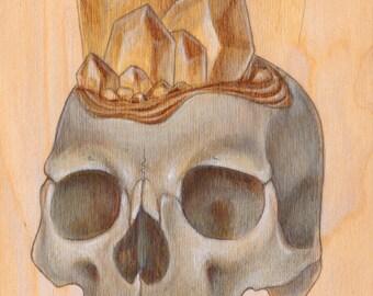 Crystal Skull (Citrine) PRINT