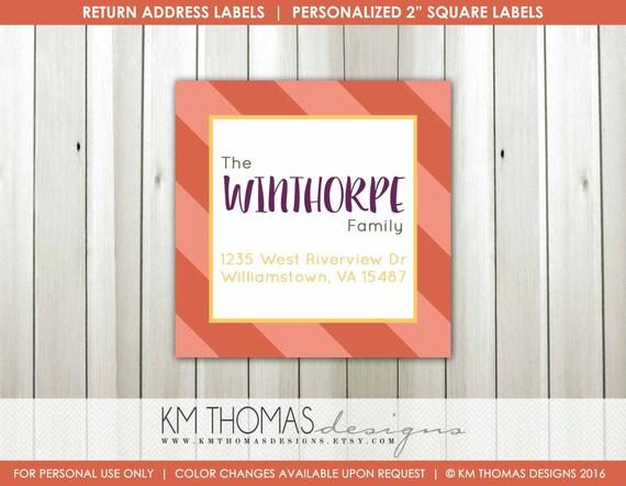 personalized return address label printable address label custom