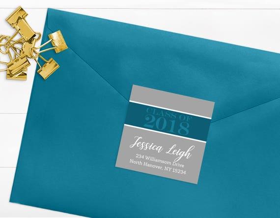 class of 2018 return address labels printable graduation address