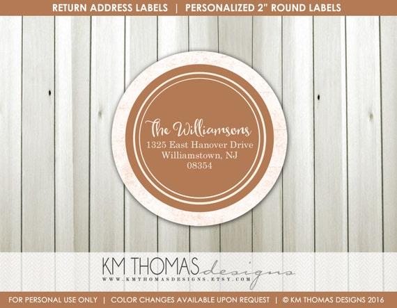 personalized return address label printable return address label