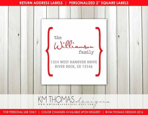 custom address label printable return address label personalized