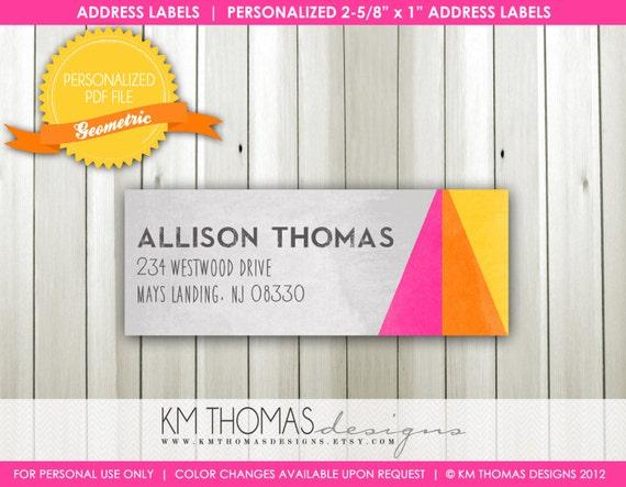 Custom Printable Return Address Label Design...by KM Thomas Designs