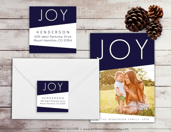 Printable Return Address Label - Square Label - Holiday