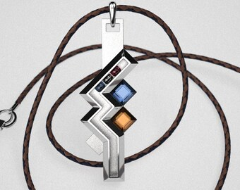 Lightings necklace -  Final Fantasy - Lightings Necklace Sterling Silver - Custom Order - Final Fintasy Sterling Silver Necklace