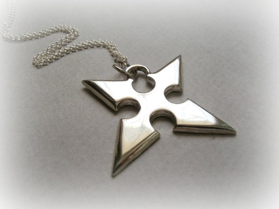 Roxas Necklace Sterling Silver Kingdom Hearts Jewelry Etsy