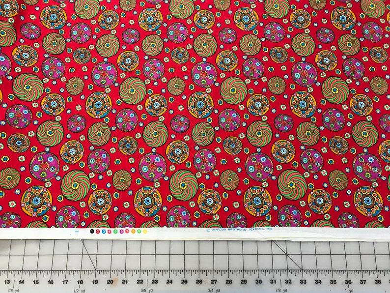 Multi colored Millifiori fabric Marcus Brothers Textiles Rare OOP quilting fabric Unique