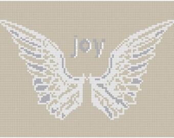 Cross stitch pattern ANGEL WINGS - christmas pillow,scandinavian,cross stitch,needlepoint,embroidery,cushion,swedish,anette eriksson,diy