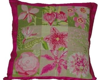 Cross stitch pattern FLORA cross stitch,needlepoint,embroidery,botanical,scandinavian,pillow cover,housewares,swedish,summer,anette eriksson